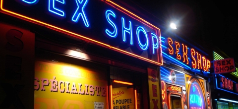 Devanture d'un sex shop