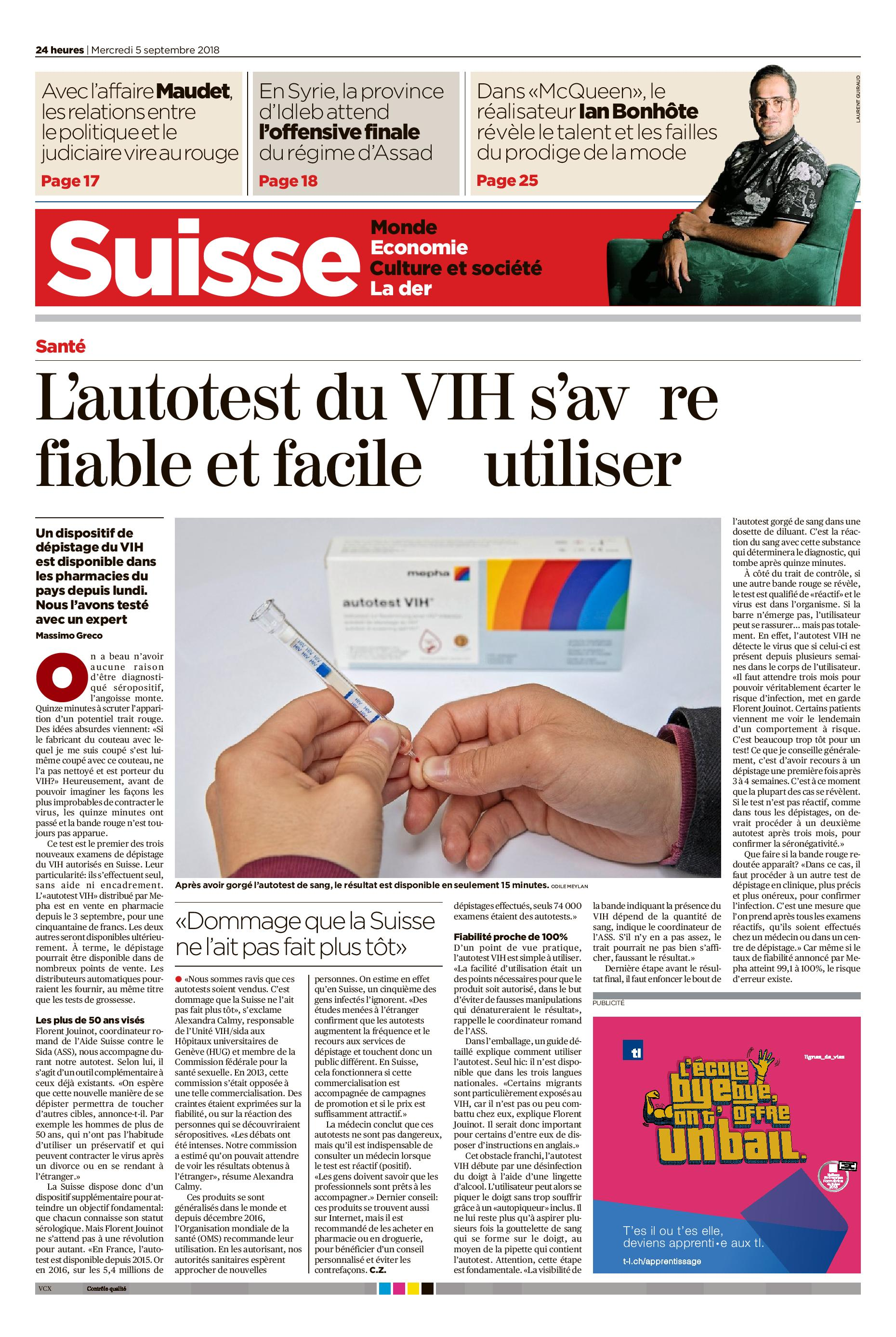 VIH, HIV, SIDA, autotest, prévention