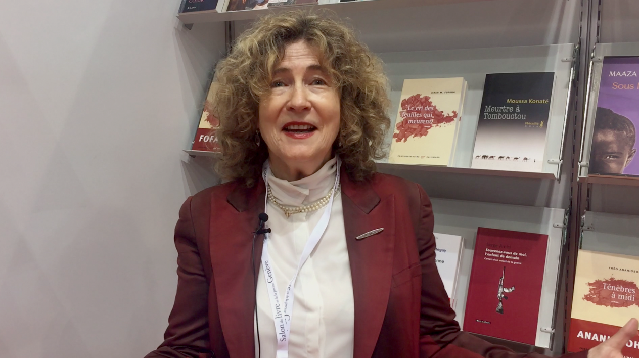 Barbara Polla au Salon du livre.
