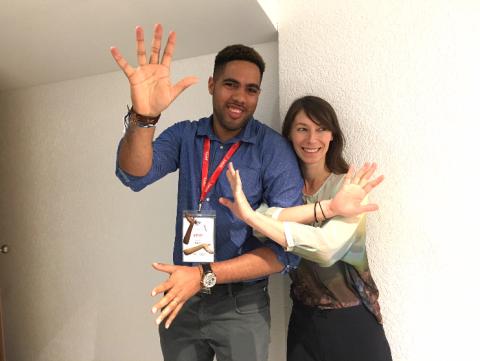 Naëm Baron et Mélodie Mousset, les concepteurs de l'experience artistique virtuelle Hana Hana.